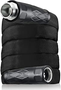 BIONIC FLEX 7215 Heavy Duty Lawn Commercial Grade Lightweight, Drag Resistant, Kink Free Reinforced Garden Hose As Seen on TV, 50', Black