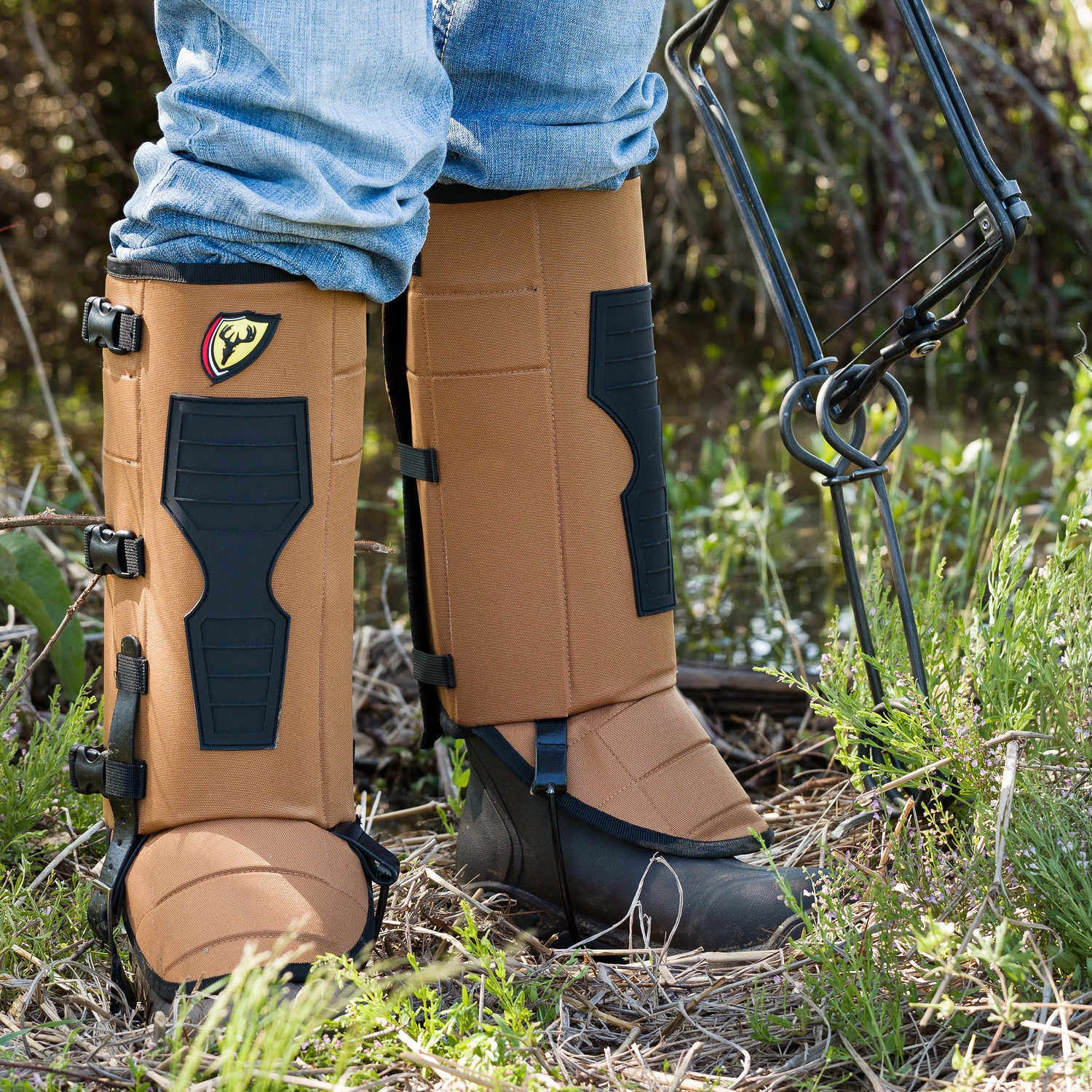 Scentblocker Diamondback Premium Snake Gaiters, Large