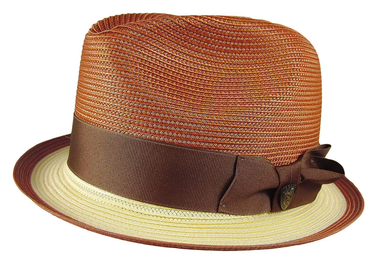 dbe2083b1c956 Dobbs Fifth Avenue New York Theadore Straw Hat Fedora Large Oval 1 1 2
