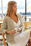 Hübsche Sommerjacke mit Lochmuster in leinen Fb 248 (Größe S/M)! Sommer Jacke selber häkeln - Häkelset mit Catania Wolle und kostenloser Häkelanleitung - Häkelpaket mit Schachenmayr original Wolle Catania Schachenmayr - leichte Anleitung zum selberhäkeln