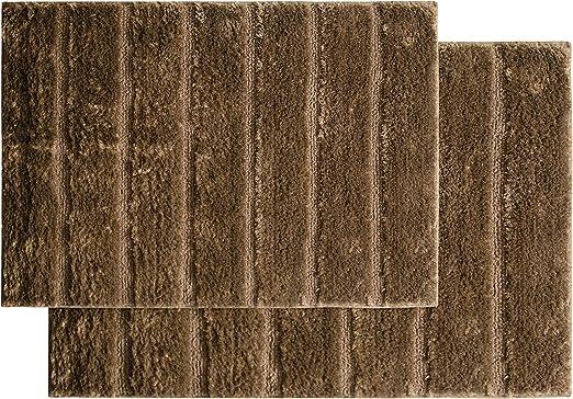 Floor Covers Nadia Ultra Soft Microfiber Bathroom Rugs Mats Ribbed Design