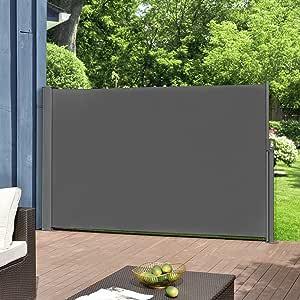 pro.tec] Toldo Lateral tamaños - Exterior - contra Viento, Sol y visión - Gris - 160 x 300cm: Amazon.es: Hogar