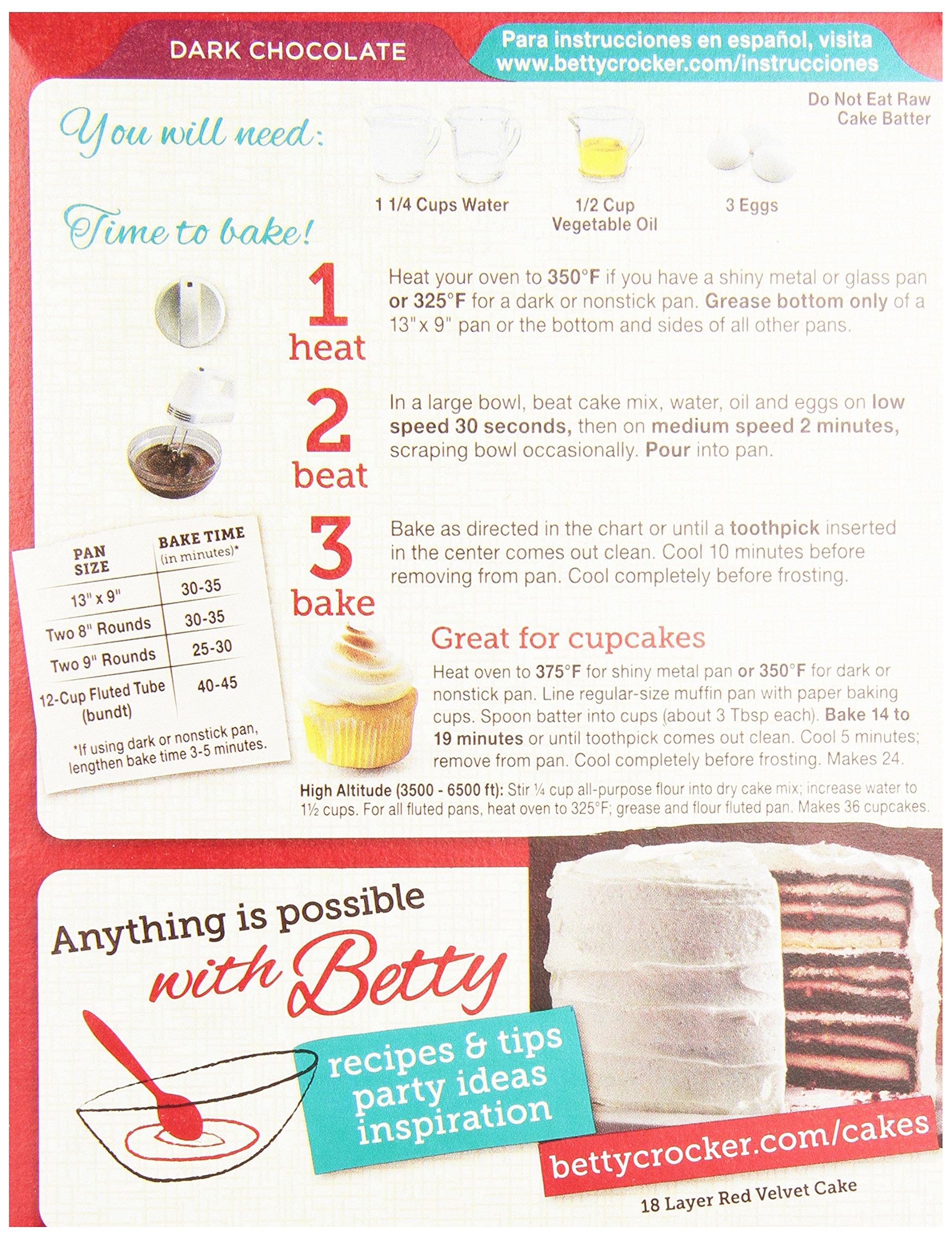 Betty Crocker Super Moist Cake Mix Dark Chocolate 15.25 oz Box (pack of 6) by Betty Crocker (Image #4)