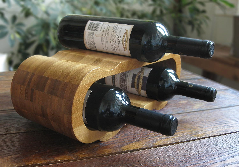 Decorative Bamboo 6-bottle Wine Rack