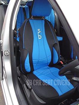 Luxury BLACK /& BLUE Trim Car Seat Covers Citroen Nemo Multispace Full Set