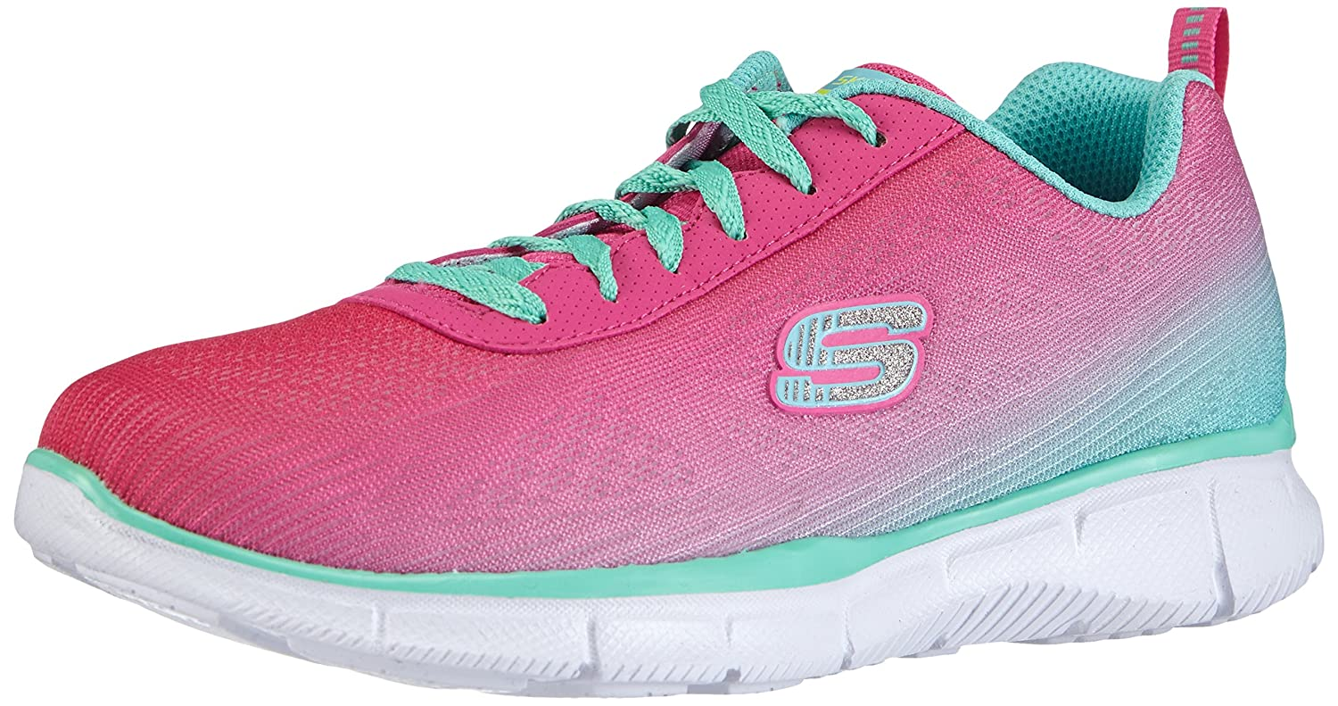 Amazon.com | Skechers Girls Equalizer Lace Up Textile Trainer Sneaker Royal Textile | Running
