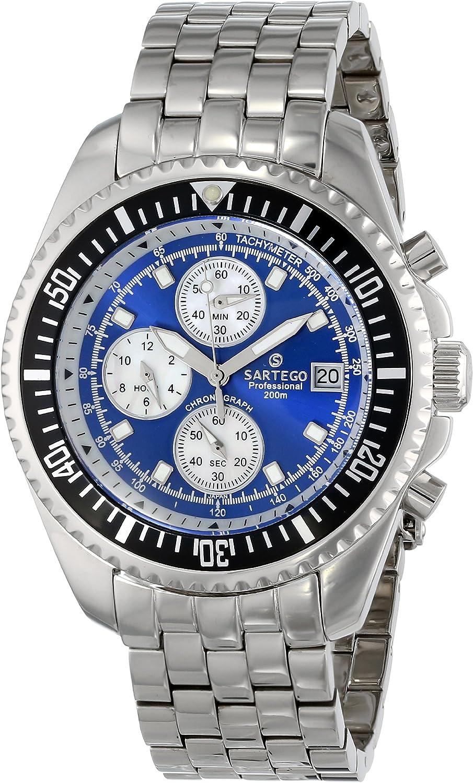 Sartego Men s SPC43 Ocean Master Quartz Chronograph Watch