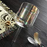 7 Inch E Note Hollow Handle Clear Quartz Crystal Singing Bowl With Handle Case