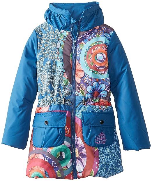 Desigual Kids niña 48e3096 Chaqueta de Invierno/Chaqueta/Abrigo Agua Azul Gaultier Azul: Amazon.es: Ropa y accesorios
