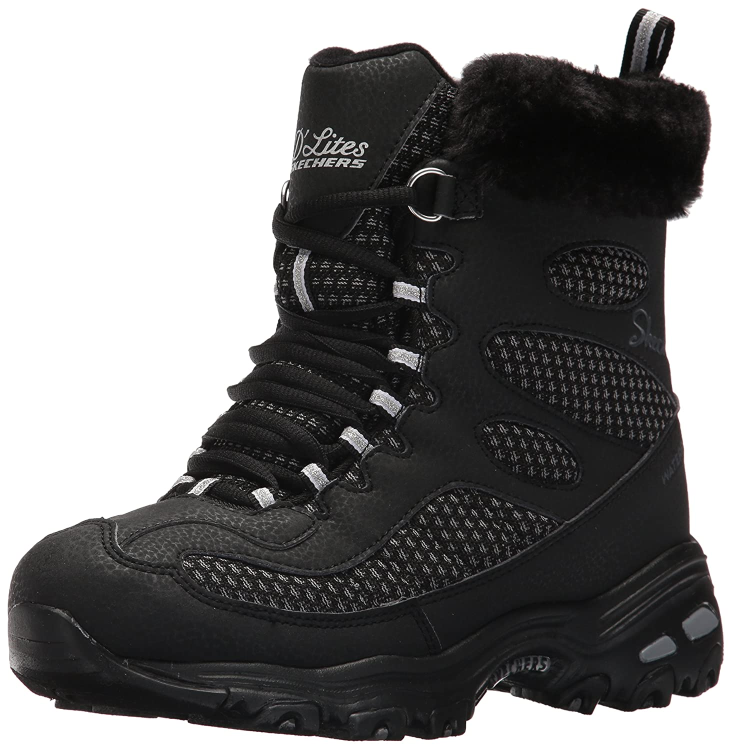 Skechers Women's D'Lites Winter Boot B06XD3RYF6 5 B(M) US|Black