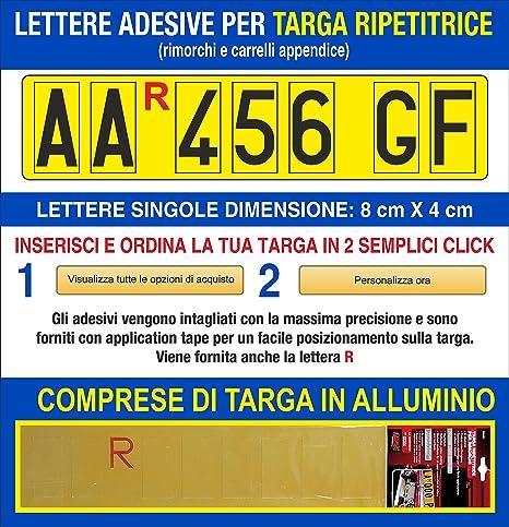 Grafilandia Targa Ripetitrice Per Rimorchi E Carrelli Appendice