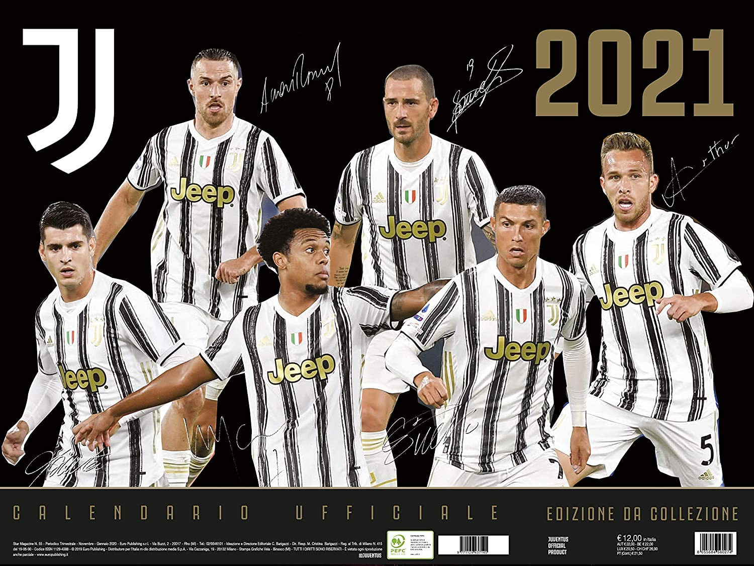 Calendario Juventus 2021 22 Pdf Calendario Juventus 2021 cm 44x33   prodotto ufficiale: Amazon.it