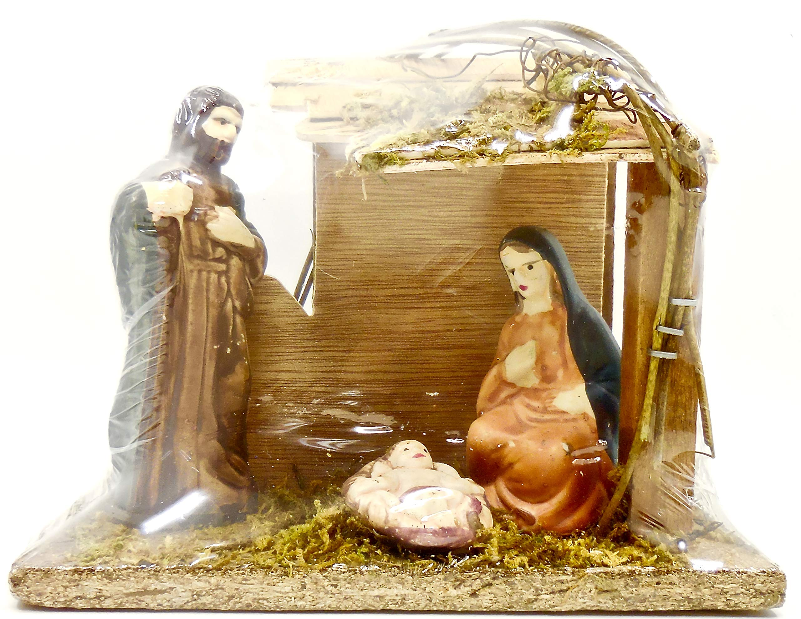 Nativity Scene,Baby Jesus,Manger (Medium, Wood)