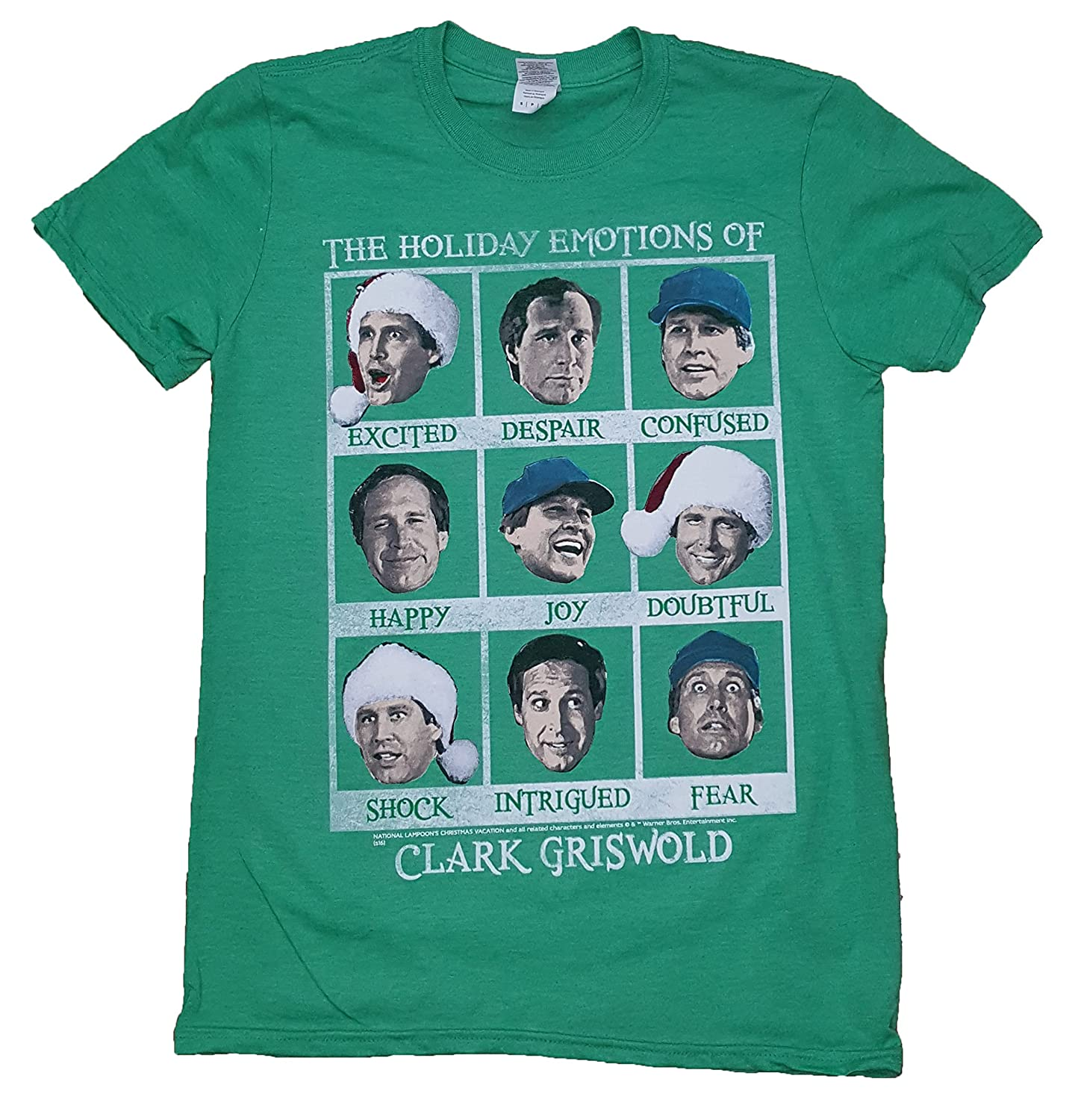 National Lampoons Christmas Vacation Men's Emotions of Clark Griswold T-Shirt