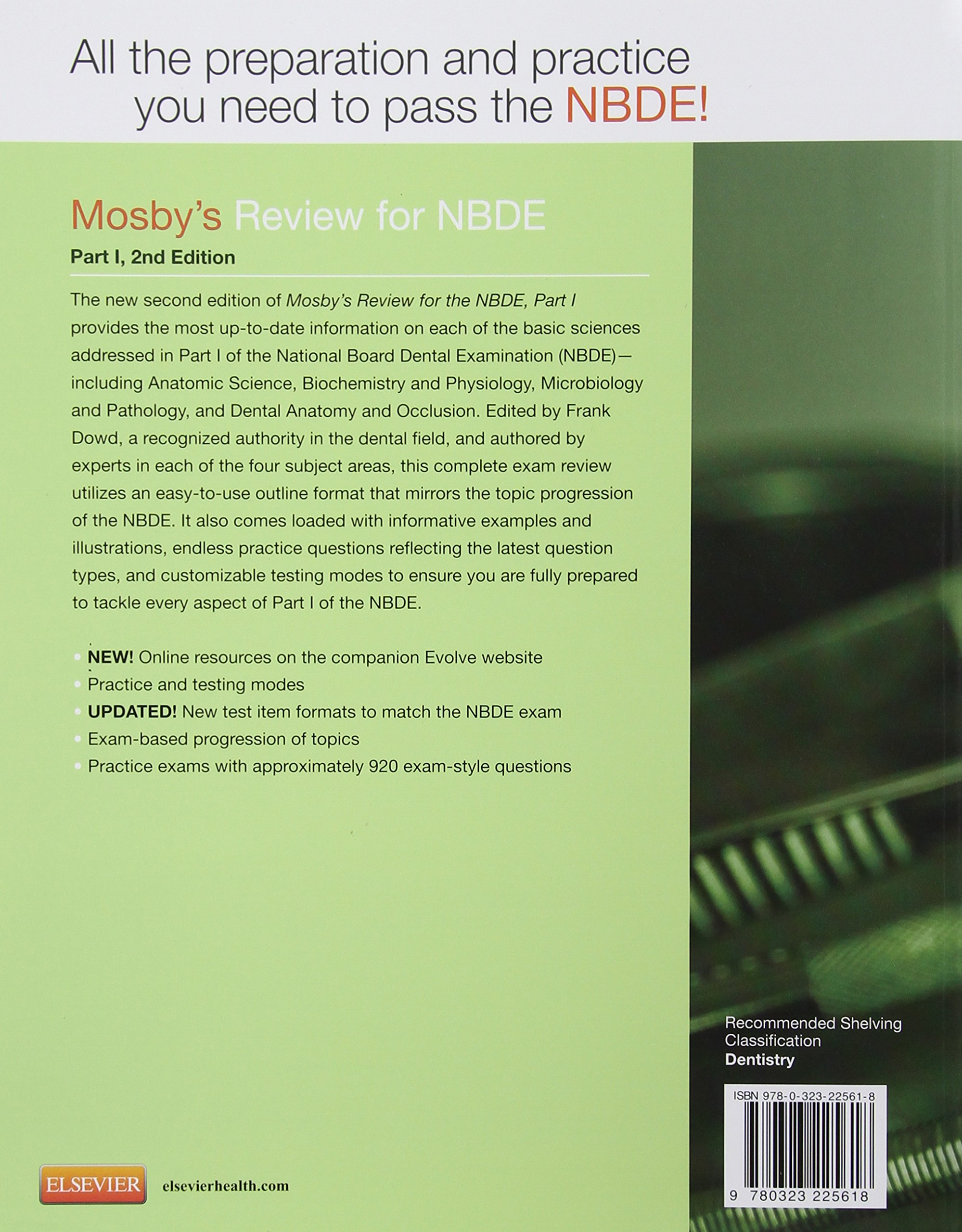 Mosby's Review for the NBDE Part I, 2e: Amazon.co.uk: Mosby: 9780323225618:  Books