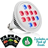 Garden Nova LED Grow Light Bulb for Indoor Plants - Best Spectrum for Marijuana Vegetables Herbs- Hydroponics Growing- Includes MADE IN THE USA Seeds Packet Bonus