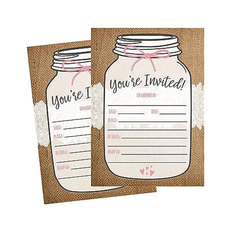 f489e7a8b51b Amazon.com  50 Fill In Invitations
