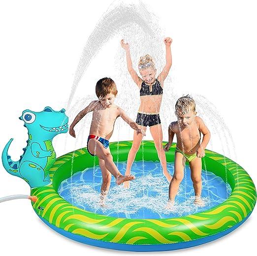Dinosaur Inflatable Sprinkler Pool for kids, 63