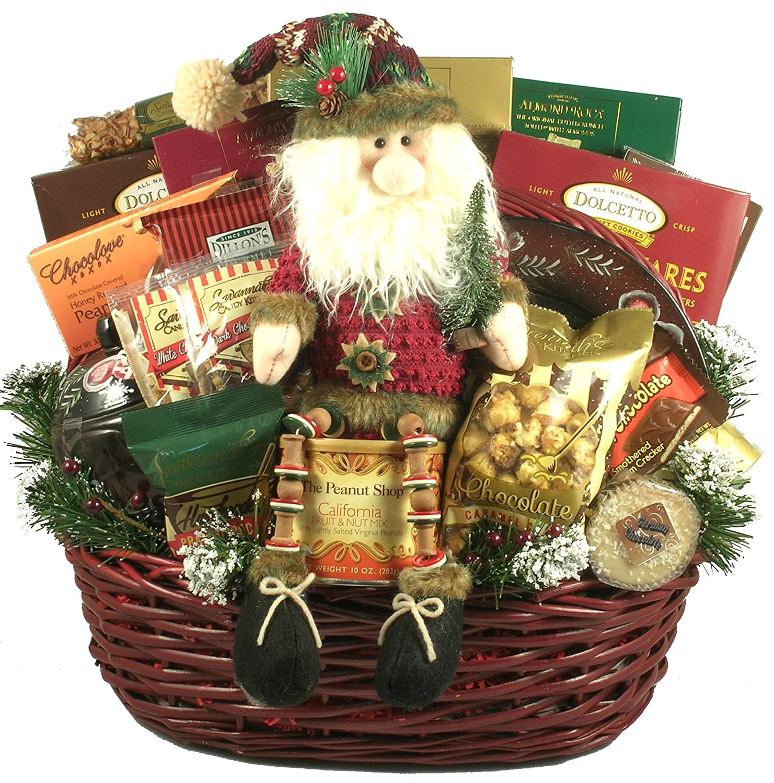 Family Christmas Gift Baskets.Amazon Com Deck The Halls Large Christmas Gift Basket
