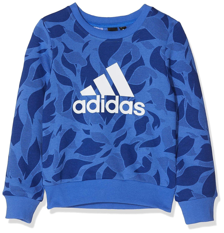 Adidas YG Crew Sweat, Felpa Bambine