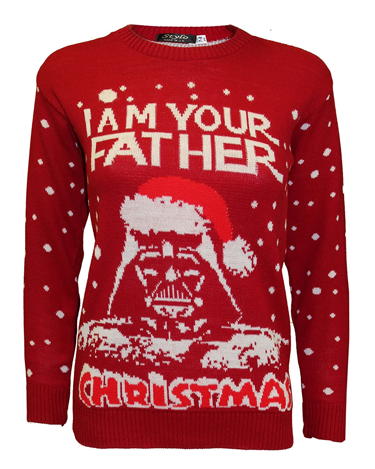New Kids Girls Boys Knitted Xmas Star Wars Vintage Darth Vader Novelty Jumper Sweater Top 3-12 Years