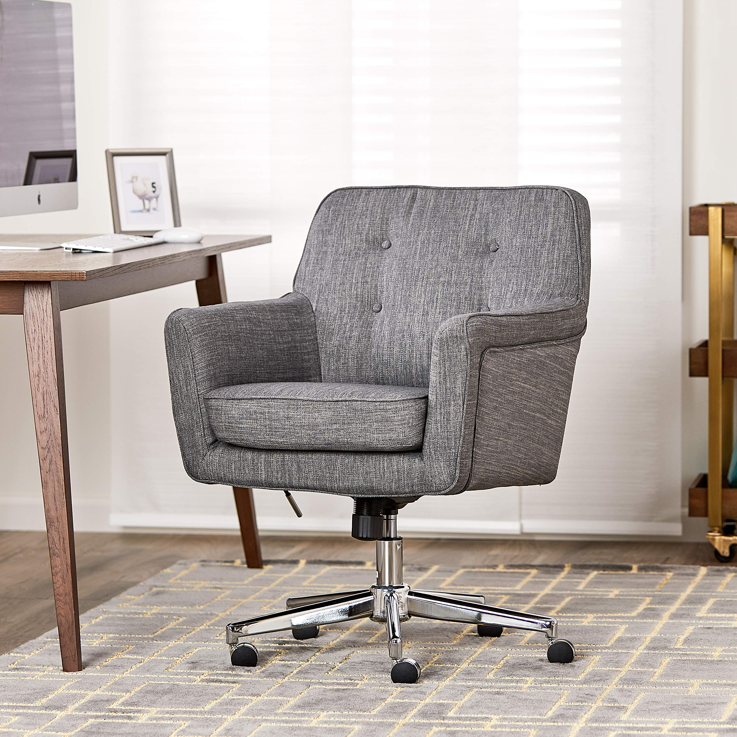 Serta Style Ashland Home Office Chair, Twill Fabric, Gray by Serta