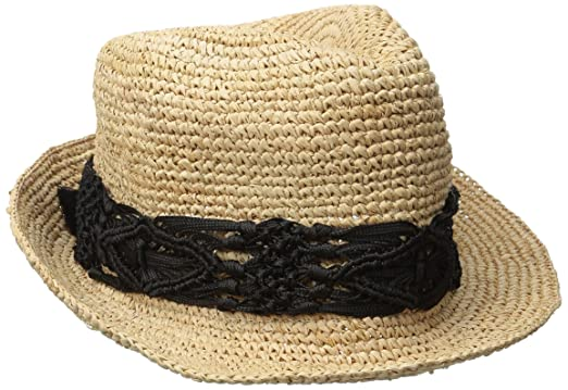 Physician Endorsed Women s Malia Crochet Raffia Sun Hat with Macrame Trim bb4cdb8e3d7