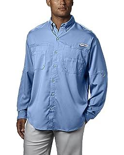 1ab62adeb79 Columbia Men's PFG Bonehead II Long Sleeve Shirt, Cotton, Relaxed ...