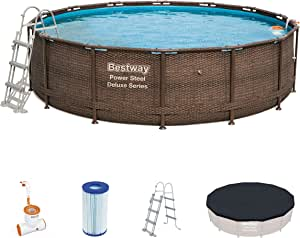 Piscina Desmontable Tubular Bestway Power Steel Diseño Rattan ...