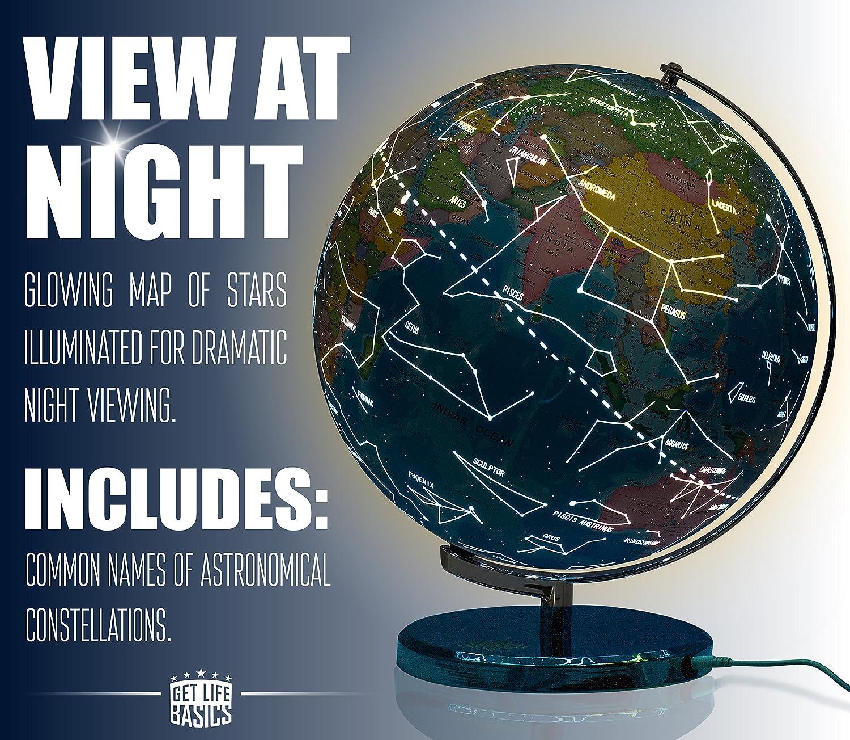Obtén productos básicos de la vida, globo mundial de 33 cm y ...