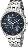 Citizen Eco-Drive Men's Chronograph Stainless Steel Solar Powered Watch with Blue Dial Display AT2141-52L
