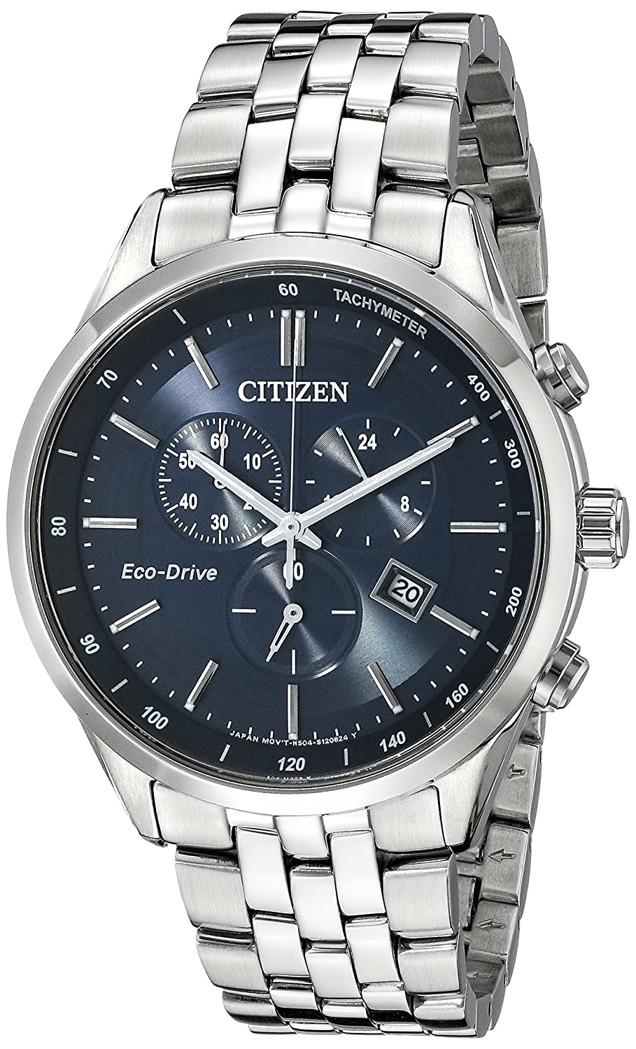 a7ba52391ab2 Amazon.com  Citizen Men s Eco-Drive Chronograph Stainless Steel Watch with  Date