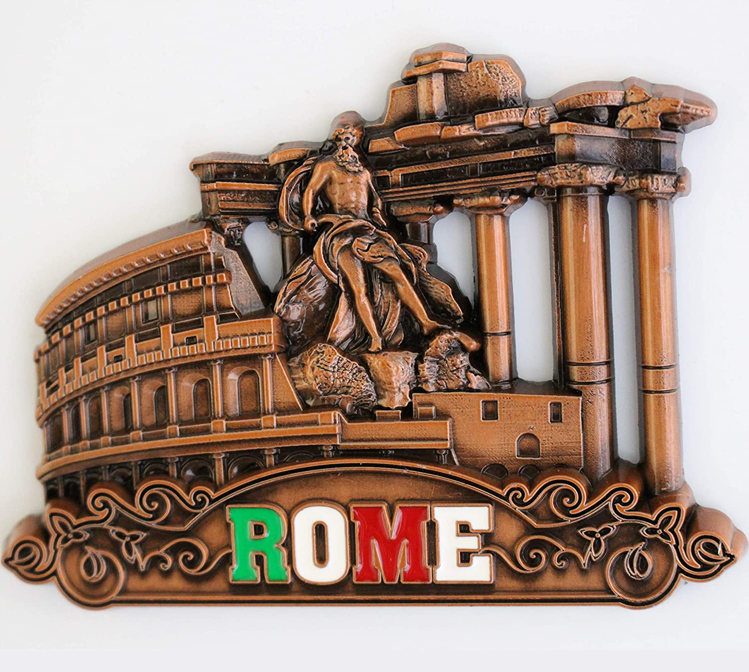 Italy Rome Metal Fridge Magnet Unique Design Home Kitchen Decorative Travel Holiday Souvenir Gift, Stick Up Your Lists Photos on Refrigerator
