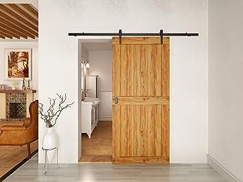 Schiebetursystem Schwarz Fur Holztur Lange 2 M Amazon De