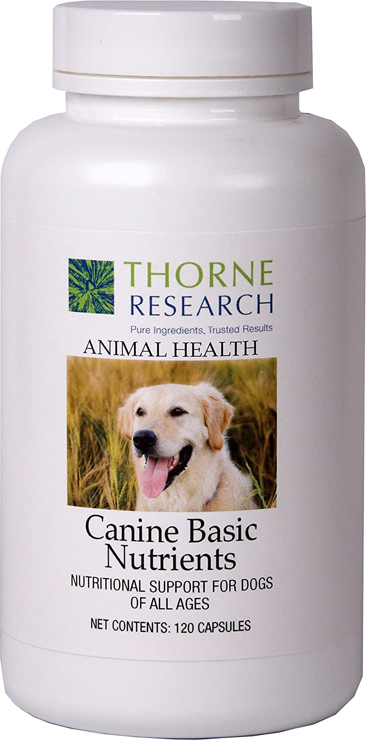 Thorne Research Veterinary - Canine Basic Nutrients, Nutritional Support for Dogs of All Ages - 120 Capsules