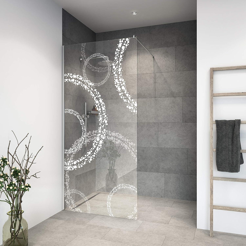 Mampara de ducha de vidrio templado con decoración LaserVision_020 ...