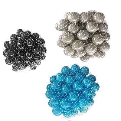 Balles pour balles de bain Mélange Mix avec Turquoise, gris et noir