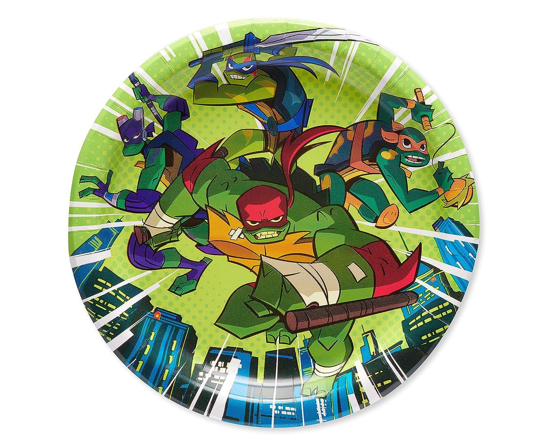 American Greetings Teenage Mutant Ninja Turtles (TMNT) Party Supplies, Paper Dinner Plates (8-Count)