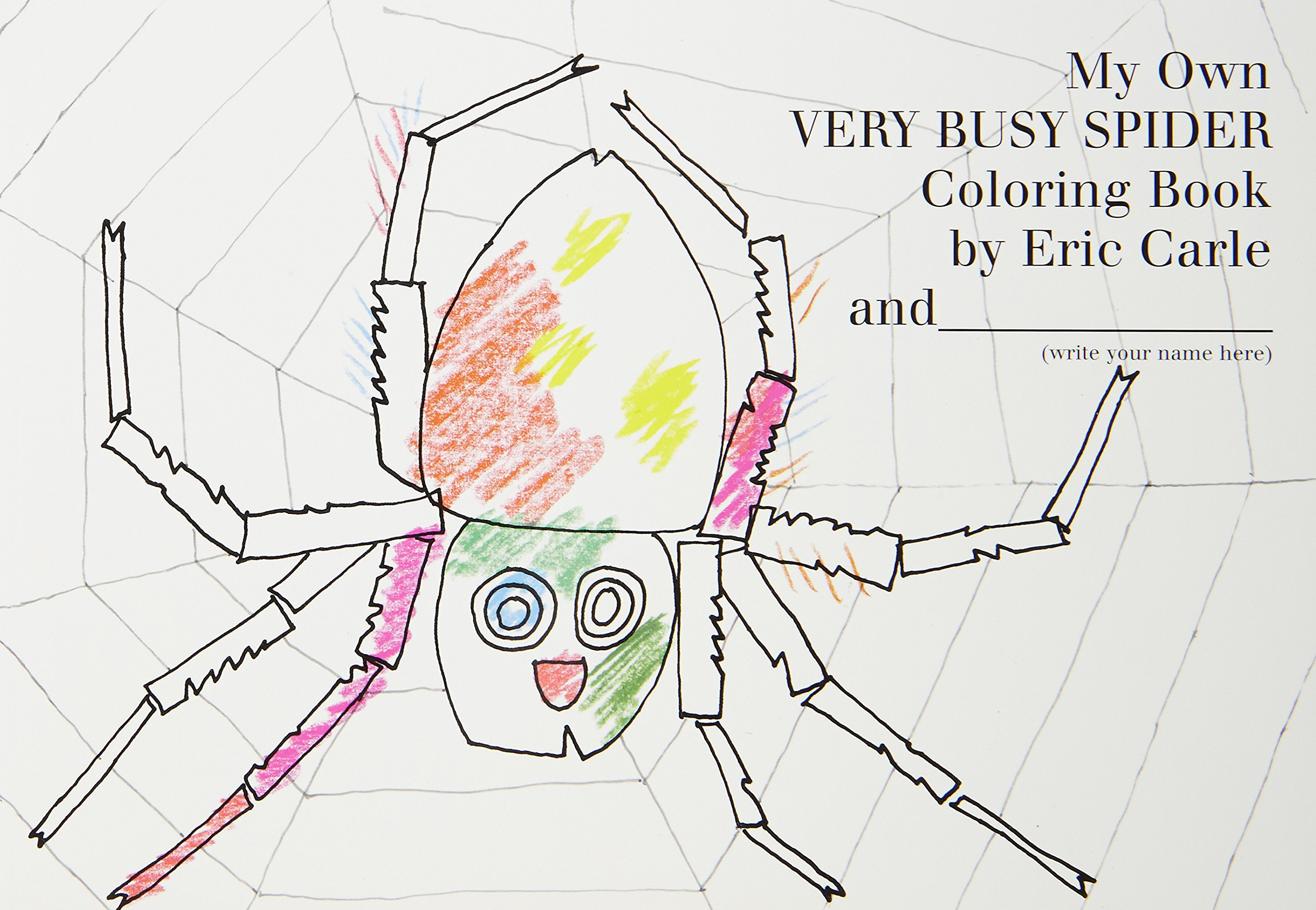amazon com my own very busy spider coloring book 9780399243097