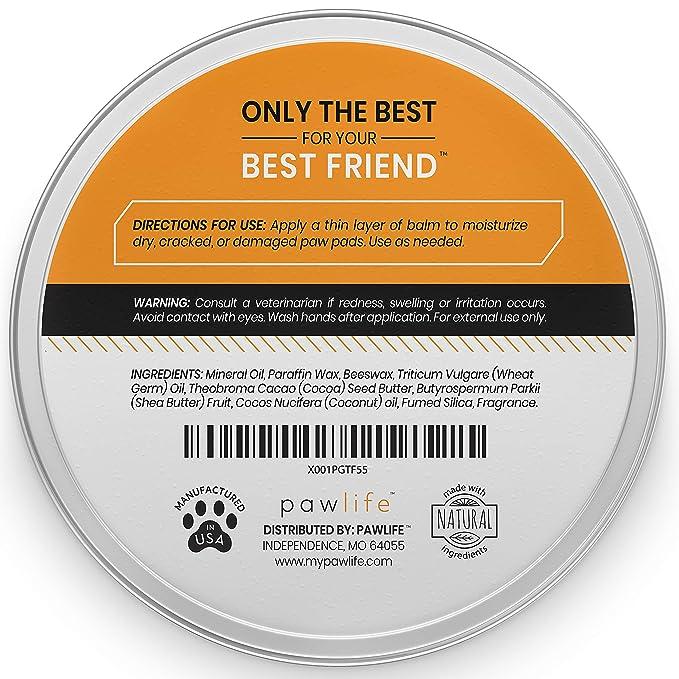 Amazon.com: pawlife - Bálsamo para huellas de perro – Cera ...