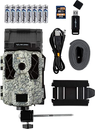 Spypoint Solar Dark Trail Camera with Batteries, SD Card, Card Reader, and Mount