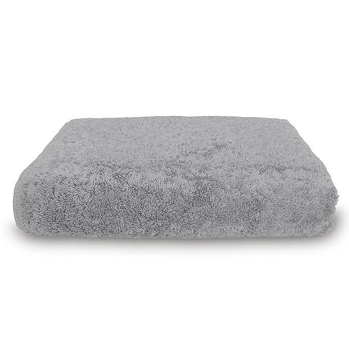 graccioza largo doble loop toalla colección - Plata - fabricado en Portugal, 700-gsm, 100% algodón egipcio: Amazon.es: Hogar