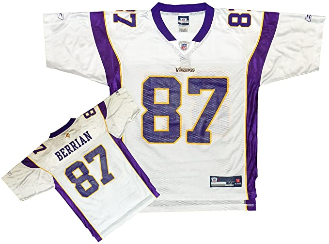 newest 80594 920a1 Minnesota Vikings NFL Mens BERNARD BERRIAN # 87 Replica Jersey, White  (Large, White)