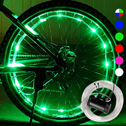 Red Bike Bicycle Cycling Spoke Wire Tire Tyre Wheel LED Bright Light safty led