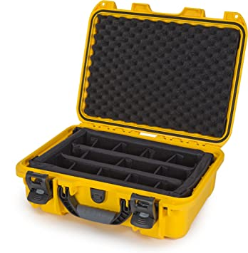 Yellow Nanuk 905 Waterproof Hard Case with Padded Dividers