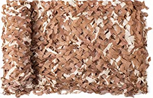 NINAT Woodland Camo Netting Camouflage Net Desert Bulk Roll for Hunting Shooting Camping Military Decoration Sunscreen Nets 5ft x 20ft (1.5M x 6M)