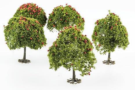 WWS 5 Manzanos Verde Medio con Fruta 55mm Escala OO ...