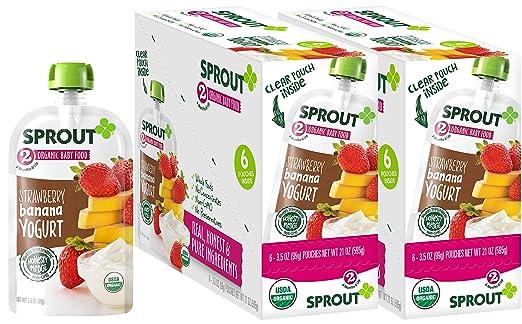 Sprout Bolsas de alimentos orgánicos para bebés, etapa 2 ...
