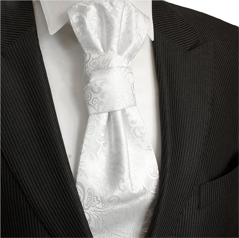 Paul Malone Boda blanco Plastron boda moda para hombres: Amazon.es ...
