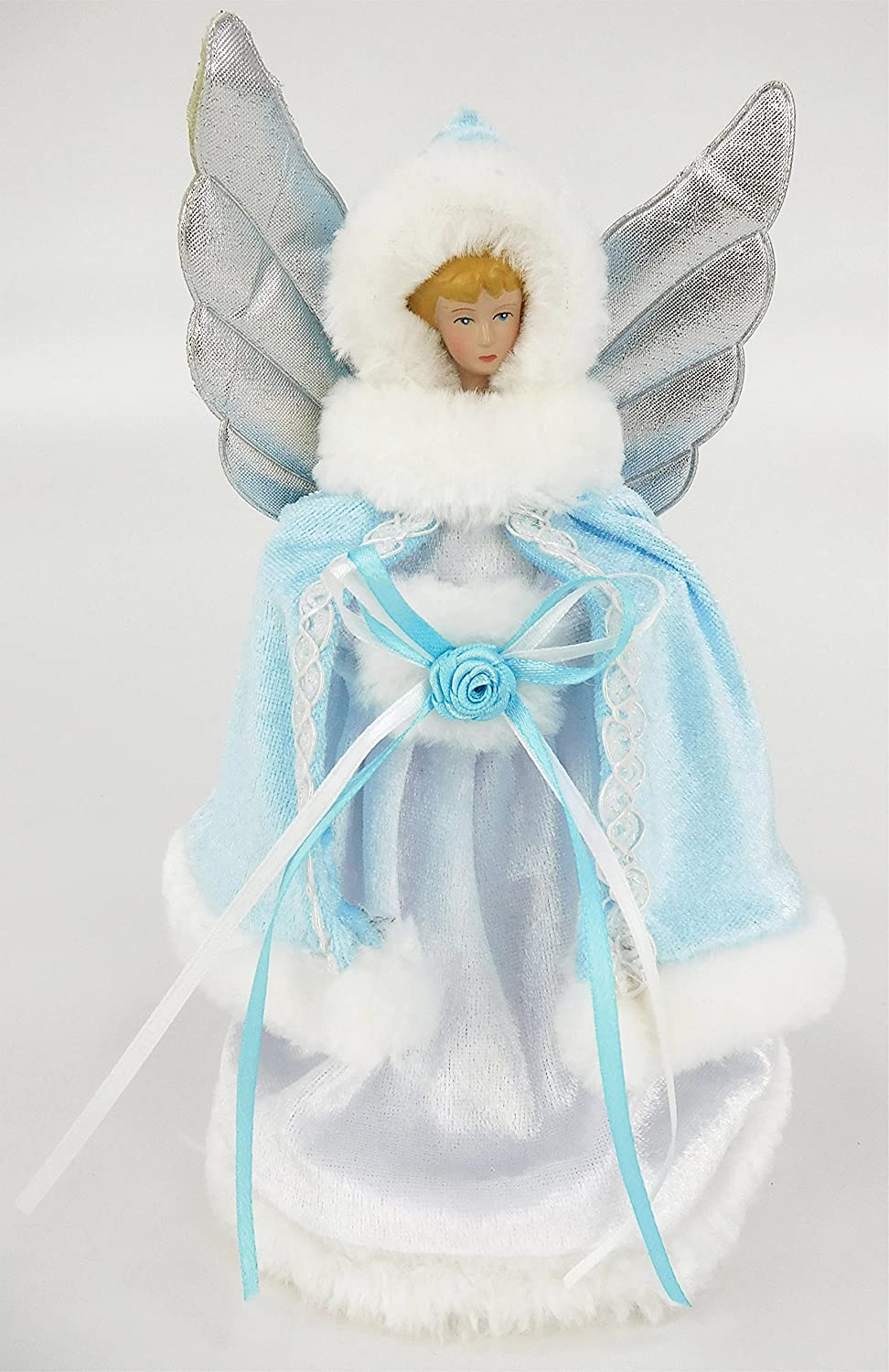 8 Inch Tree Top Angel - Christmas Tree Decorations (Ice Blue) Christmas Concepts®